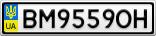 Номерной знак - BM9559OH