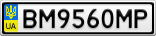 Номерной знак - BM9560MP