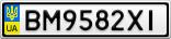 Номерной знак - BM9582XI