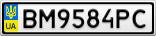 Номерной знак - BM9584PC