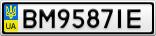 Номерной знак - BM9587IE