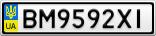 Номерной знак - BM9592XI