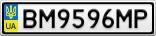 Номерной знак - BM9596MP