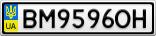 Номерной знак - BM9596OH