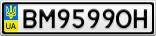 Номерной знак - BM9599OH