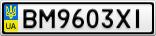 Номерной знак - BM9603XI