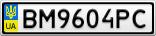 Номерной знак - BM9604PC