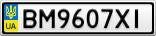 Номерной знак - BM9607XI