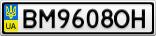 Номерной знак - BM9608OH