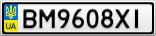 Номерной знак - BM9608XI