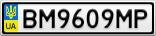 Номерной знак - BM9609MP