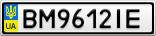 Номерной знак - BM9612IE