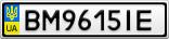 Номерной знак - BM9615IE