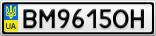 Номерной знак - BM9615OH