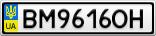 Номерной знак - BM9616OH