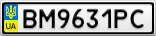 Номерной знак - BM9631PC