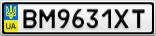 Номерной знак - BM9631XT