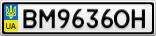 Номерной знак - BM9636OH