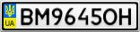 Номерной знак - BM9645OH