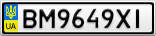 Номерной знак - BM9649XI