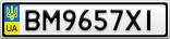 Номерной знак - BM9657XI