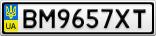 Номерной знак - BM9657XT