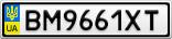 Номерной знак - BM9661XT