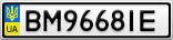 Номерной знак - BM9668IE