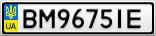 Номерной знак - BM9675IE