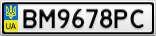 Номерной знак - BM9678PC