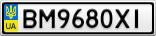 Номерной знак - BM9680XI