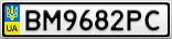 Номерной знак - BM9682PC
