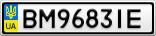 Номерной знак - BM9683IE
