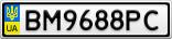 Номерной знак - BM9688PC