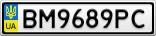 Номерной знак - BM9689PC