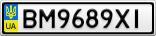 Номерной знак - BM9689XI