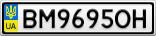 Номерной знак - BM9695OH