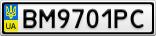 Номерной знак - BM9701PC