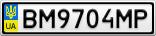 Номерной знак - BM9704MP
