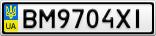Номерной знак - BM9704XI