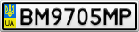 Номерной знак - BM9705MP