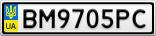 Номерной знак - BM9705PC