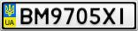 Номерной знак - BM9705XI