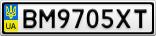 Номерной знак - BM9705XT