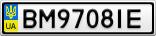 Номерной знак - BM9708IE