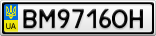 Номерной знак - BM9716OH