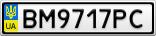 Номерной знак - BM9717PC