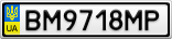 Номерной знак - BM9718MP