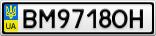 Номерной знак - BM9718OH