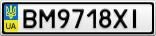 Номерной знак - BM9718XI